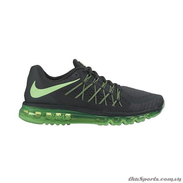 Giày Nam Nike Air Max Anthracite Black Green Strike Running 698902-013