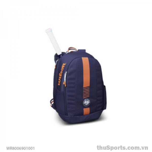 Balo thể thao WILSON ROLAND GARROS TEAM BACKPACK Nav/CLAY WR8006901001