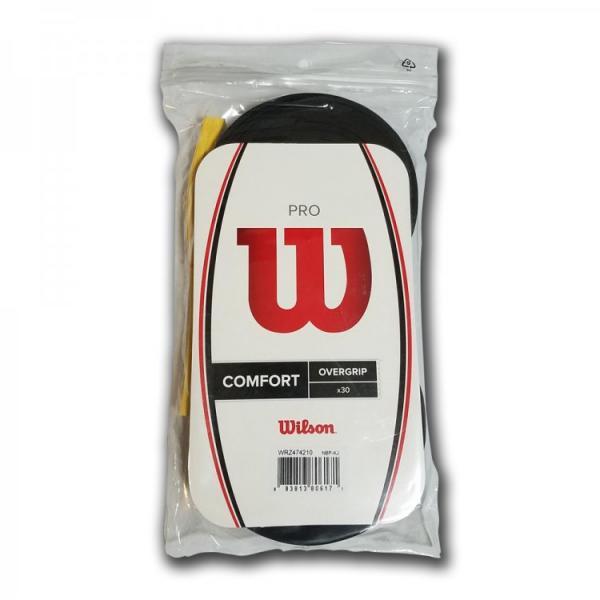Dây quấn cán vợt tennis WILSON PRO OVERGRIP 30PK BK WRZ474210