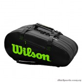 Túi tennis WILSON SUPER TOUR 3 COMP Charco/Green WR8004101001