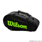 Túi tennis WILSON SUPER TOUR 2 COMP LARGE Charco/Green WR8004201001