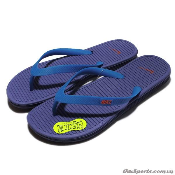 Dép Nam Nike Solarsoft Thong 2 II Purple Blue Sandal Thong Flip-Flops 488160-584