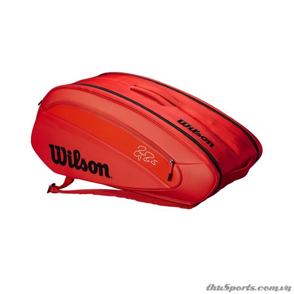 Túi tennis WILSON FEDERER DNA 12 PACK INFRARED WRZ830812