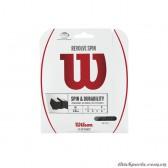 Dây đan vợt tennis WILSON REVOLVE SPIN 16 SET BK WRZ957000