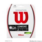 Dây Đan Vợt Tennis WILSON SENSATION 16 Neogreen 16G WRZ830170116